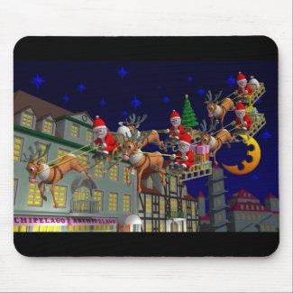 Flying Santa Mousepads