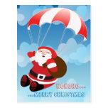 flying santa postcards
