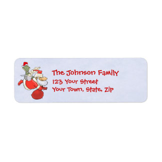 Flying Santa with Gator Return Address Label