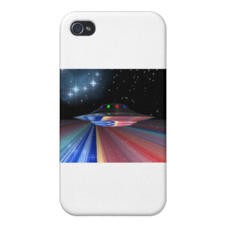Flying saucer above Saturn Cover For iPhone 4