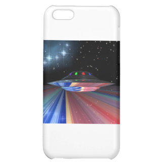 Flying saucer above Saturn Cover For iPhone 5C
