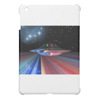 Flying saucer above Saturn Cover For The iPad Mini