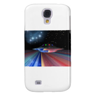Flying saucer above Saturn Galaxy S4 Cover