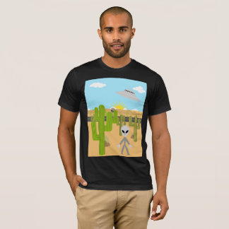 Flying Saucer and Aliens T-Shirt