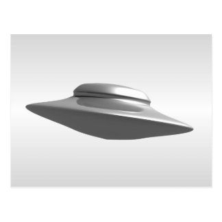 Flying Saucer - Black and White Postcard