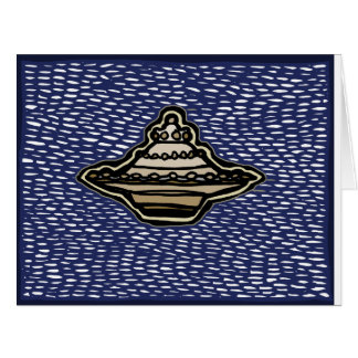 Flying Saucer card by PararnormalPrints