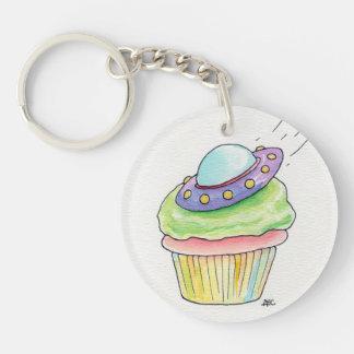 Flying Saucer Cupcake Keychain