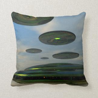 Flying Saucer Fleet American MoJo Pillows