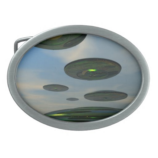 Flying Saucer Fleet Belt Buckle