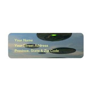 Flying Saucer Fleet Label