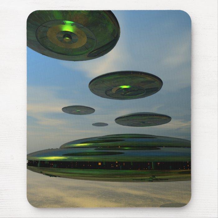 Flying Saucer Fleet Mousepad
