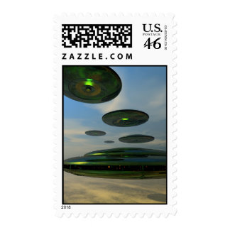 Flying Saucer Fleet Postage