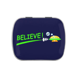 Flying Saucer Jelly Belly Tin