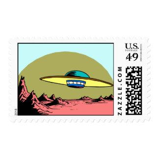 Flying Saucer Postage Stamp