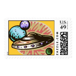Flying Saucer Postage Stamps