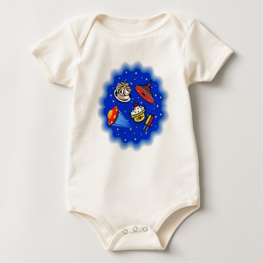 Flying Saucers & Desserts Baby Bodysuit