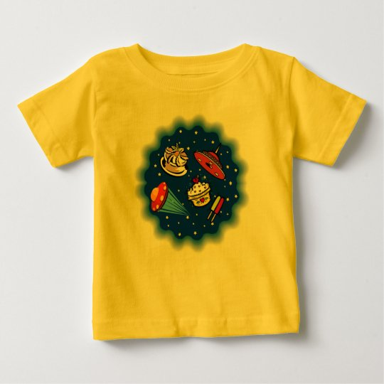 Flying Saucers & Desserts Baby T-Shirt