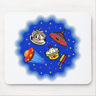 Flying Saucers & Desserts Mouse Pad