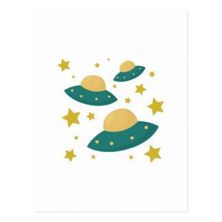 Flying Saucers Postcard