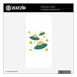 Flying Saucers iPhone 4 Decals
