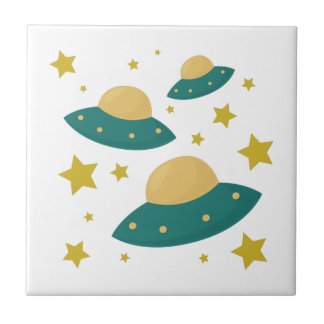 Flying Saucers Ceramic Tiles