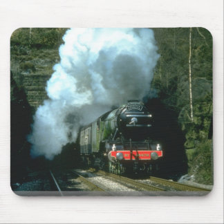 Flying Scotsman caught between tunnels at Barons W Mouse Pad