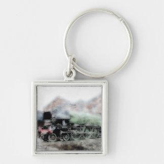Flying Scotsman Steam Engine Grunge Key Chain