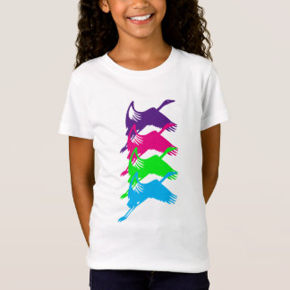 Flying Sea Birds Design T-Shirt