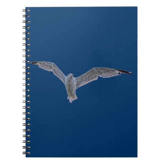 Flying Sea Gull & Blue Sky Notebook