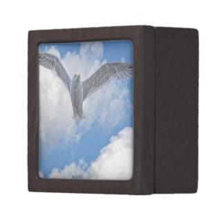 Flying Sea Gull & Clouds Gift Box