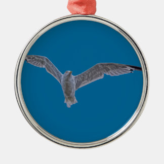 Flying Sea Gull & Clouds Christmas Ornaments
