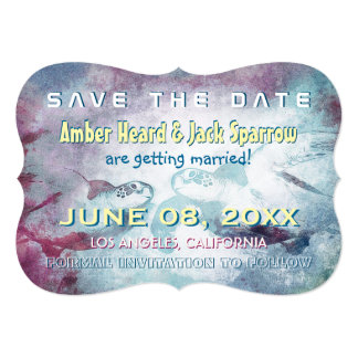 Flying Sea Turtle | Wedding Save the Date Cards
