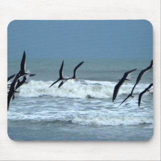 Flying Seabirds Mouse Pad