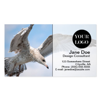 Flying Seagull Business Card Template
