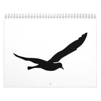 Flying seagull calendar