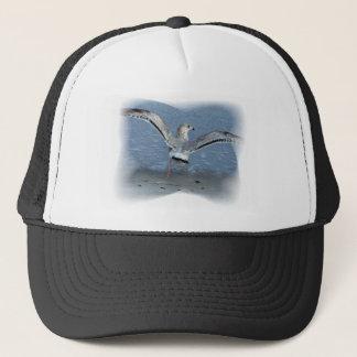 Flying seagull posterized trucker hat