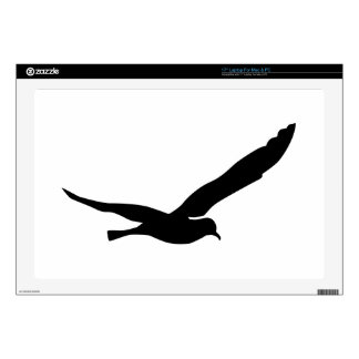 """Flying seagull decal for 17"""" laptop"""