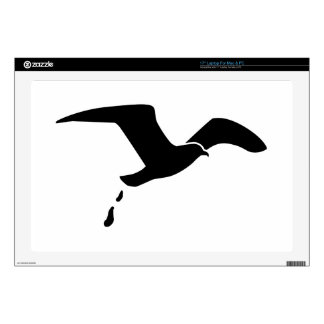 Flying seagull laptop skin