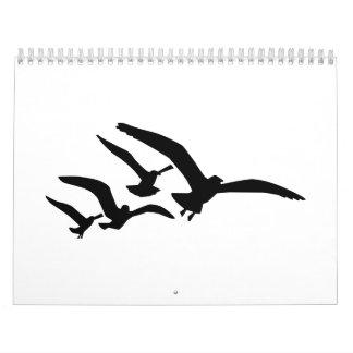 Flying seagulls calendar