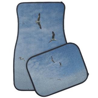 Flying Seagulls Car Floor Mats (Full Set)