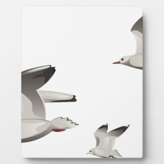 Flying Seagulls Plaque