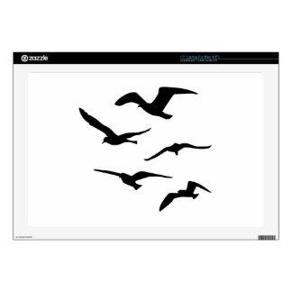 Flying seagulls laptop skin