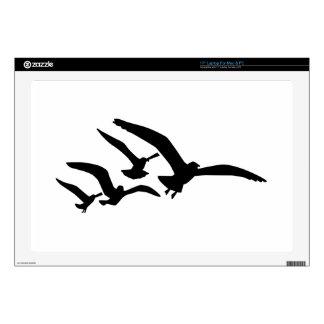 """Flying seagulls skin for 17"""" laptop"""