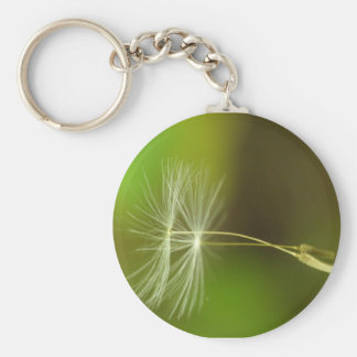 Flying seeds - Dandelion seeds in the air Basic Round Button Keychain
