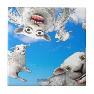 FLYING SHEEP 4 CERAMIC TILE