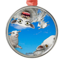 FLYING SHEEP 4 METAL ORNAMENT