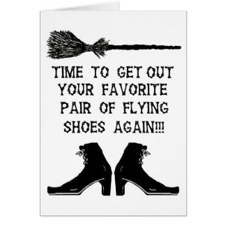 FLYING SHOES CARD