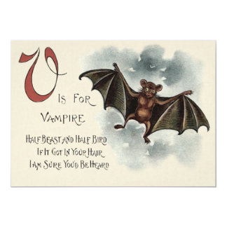 Flying Silly Goofy Vampire Bat Card