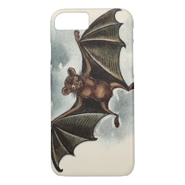 Halloween Themed Flying Silly Goofy Vampire Bat iPhone 8/7 Case