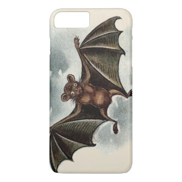 Halloween Themed Flying Silly Goofy Vampire Bat iPhone 8 Plus/7 Plus Case
